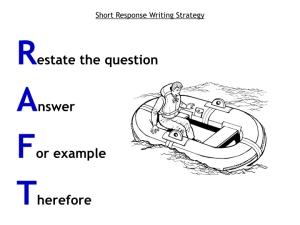 RAFT Short Response Writing Strategy2.001