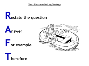 RAFT Short Response Writing Strategy2.001