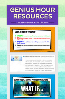 Genius Hour Resources Pic