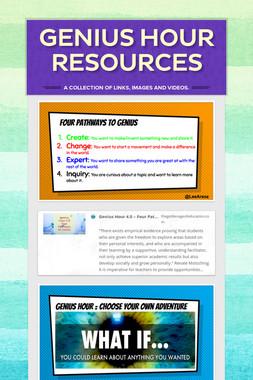 Genius Hour Resources Pic